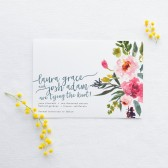 Save the Date DEPOSIT - Printable, Custom, DIY, Modern, Watercolor, Painted, Boho, Floral, Flowers, Calligraphy, Rustic, Chic (Design #74)