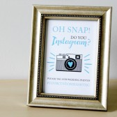 Printable Custom Wedding Hashtag for Instagram Sign