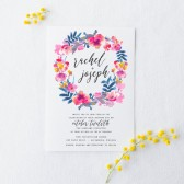 Watercolor Floral Wedding Invitation Suite DEPOSIT - DIY, Rustic, Boho Chic, Garden, Calligraphy, Invite Kit, Printable (Wedding Design #79)