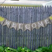 Welcome Sign for Wedding, Burlap Welcome Banner