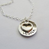 Personalized Necklace with Heart Charm