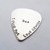 Personalized Sterling Silver Guitar Pick