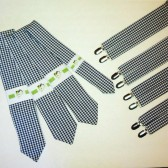 Groomsmen Set- Tie & Adjustable Suspenders- Made to order- Choose your color, size, and style