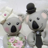 Koala cake topper, custom cake topper, animal cake topper, Australia wedding, cute cake topper