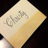Brushed Gold Place Cards