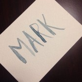 Simple Hand-Brushed Place Cards