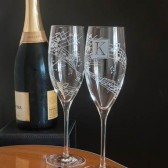 Musical Wedding Champagne Glasses
