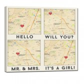 For map wall art canvas