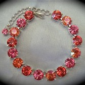 Peach pink bracelet, bridesmaid bracelet