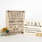 Simple Arrow Wedding Stamps, Invitation and RSVP