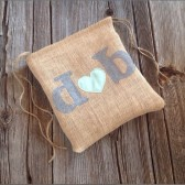 Dollar dance bag, personalized bag, burlap bag