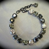 Black Bridesmaid Bracelet, swarovski Crystal tennis bracelet