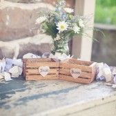 Bride and groom ring crates