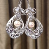 basket pearl earrings