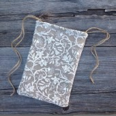 Dollar dance bag, lace wedding bag, burlap bag