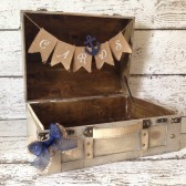 Nautical Wedding Card Box, Suitcase Style Card Box/Trunk