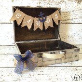 Nautical Wedding Card Box, Burlap Banner