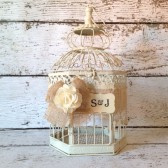 Wedding Birdcage, Rustic Wedding Decor - Personalized
