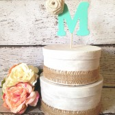 Rustic Wedding Cake Topper - Personalized, Rustic, Country, Shabby Chic Wedding, Cake Topper