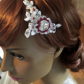 Swarovski crystal mini lace fascinator