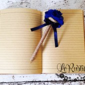Rustic Wedding Guest Book Pen, Bridal Shower Pen, Navy Blue Wedding Pen