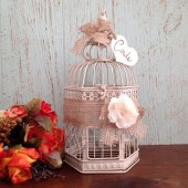 Wedding Birdcage, Rustic Wedding Decor, Birdcage Card Holder, Burlap Wedding, Small Wedding Bird Cage