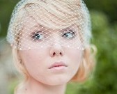 Bandeau Birdcage Veil with Pearls