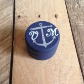 Nautical Ring Bearer Pillow Box- Personalized Ring Bearer Box