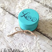 Ring Bearer Box - Rustic Ring Pillow, Custom Colors, Ring Bearer Alternative