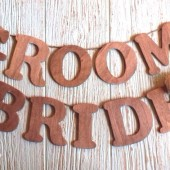 Rustic Wedding Chairs Signs - Bride and Groom Hanging Signs, Hanging Wedding Signs, Set of 2