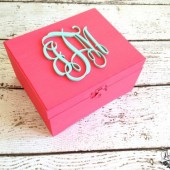Personalized Bridesmaid Gift Box, Flower Girl Gift Box, Favor Box, Custom Colors, Monogram Box, Mother of the Bride/Groom Box