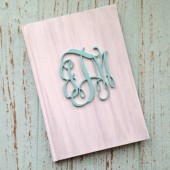 Custom Wedding Guest Book - Personalized, Monogram, Rustic Wedding Book