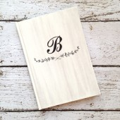 Wedding Guest Book - Personalized, Laurel, Rustic Wedding Book, Custom Colors