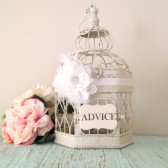 Country Glam Wedding, Birdcage Card Holder, Small Wedding Bird Cage, Elegant Bird Cage