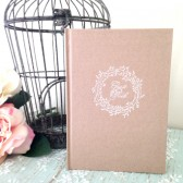 Rustic Wedding Guest Book - Personalized, Wedding Book