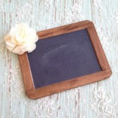 "Rustic Chalkboard Sign, 4"" x 6"", Rustic Wedding Chalkboard, Burlap Wedding"