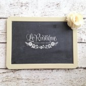 Burlap Wedding Chalkboard, Chalk Board, 7x10, Burlap Wedding Decor, Rustic Wedding