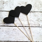 Mini Wooden Heart Chalkboard Sign Set of 12, Wedding Table Numbers, Chalkboard Table Numbers, Candy Buffet Chalkboards