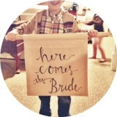 Customizable Here comes the bride ring bearer banner