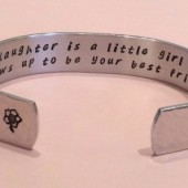 Mother / Daughter hidden message cuff