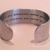 Wedding Keepsake / hidden message cuff