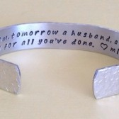 Mother of the Groom hidden message cuff