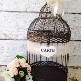 Wedding Birdcage, Rustic Wedding Decor, Card Box/Card Holder, Brown/Black Bird Cage