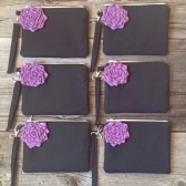 Black bridesmaid wristlet