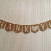 Thank You burlap banner