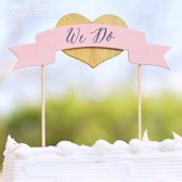 Banner Cake Topper, Wedding Cake Decor, Rustic Chic, Cake Decorations - We Do