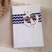 Nautical Wedding Guest Book - Personalized