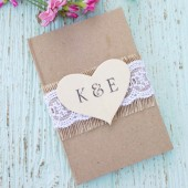 Rustic Wedding Guest Book - Personalized, Shabby Chic Wedding Book