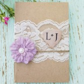 Rustic Wedding Guest Book - Personalized, Shabby Chic Wedding Book, Bridal Shower
