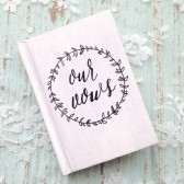Wedding Vow Book - Personalized, Rustic Chic Vow Book